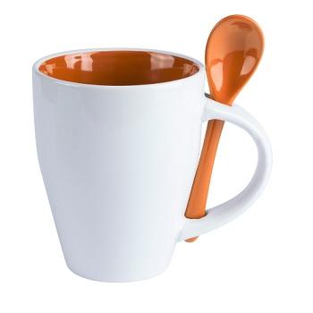 taza promocional con cuchara