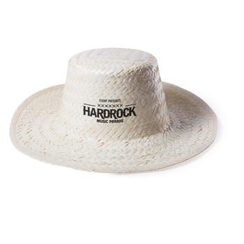 sombrero paja blanco redondo