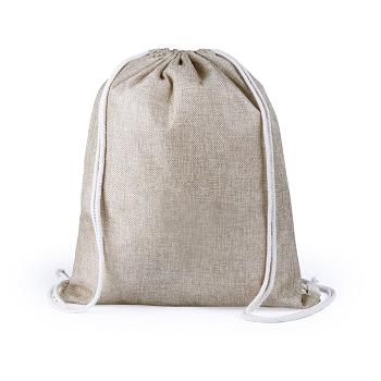 mochila algodon y poliester con cuerdas resistentes