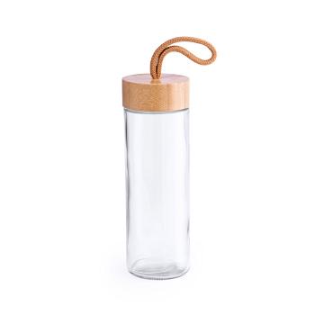botella cristal rosca bambú